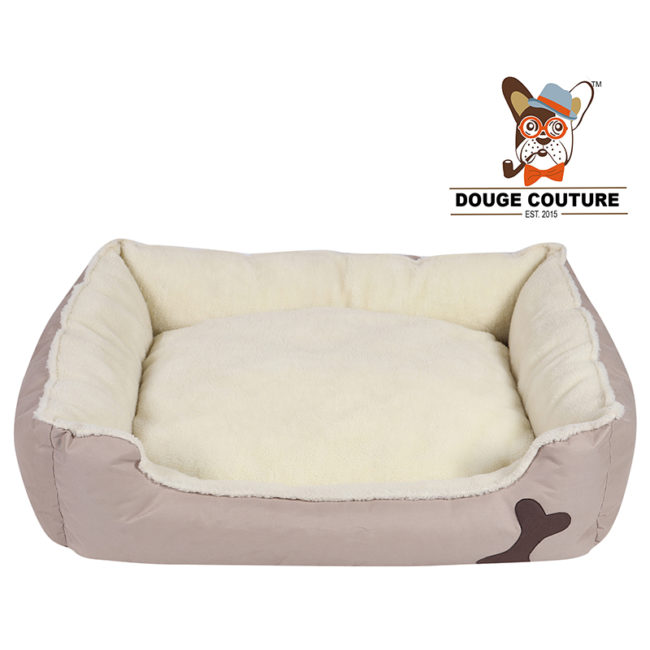 DOUGE COUTURE Super Soft Cozy Dog/cat Bed Grey