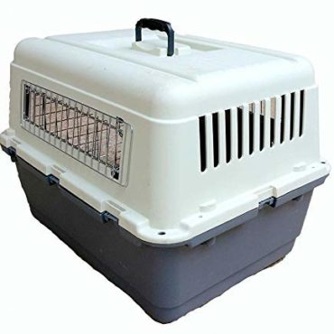 DOUGE COUTURE Plastic Flight Iata Approved Cage with Wheels for Pets (28-inch)