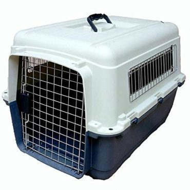 DOUGE COUTURE Iata Approved Plastic Flight Cage for Pets - Blue & White - 32 Inch