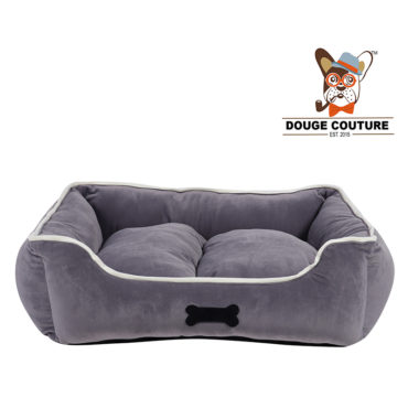 DOUGE COUTURE Super Soft Cozy Dog/cat Bed Grey (Copy) 1