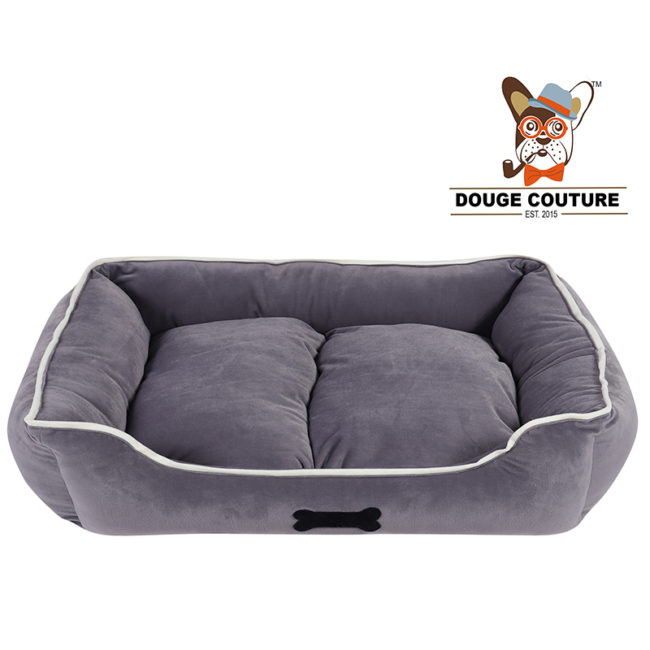 DOUGE COUTURE Super Soft Cozy Dog/cat Bed Grey (Copy)