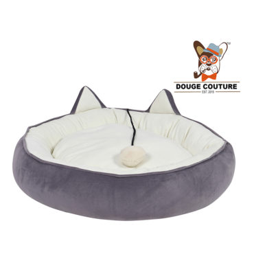 douge couture Super Soft Donut Pet Bed grey Cat/Kitten/Dog/Puppy/Warm/Snug/Cosy/Round (Copy) 1