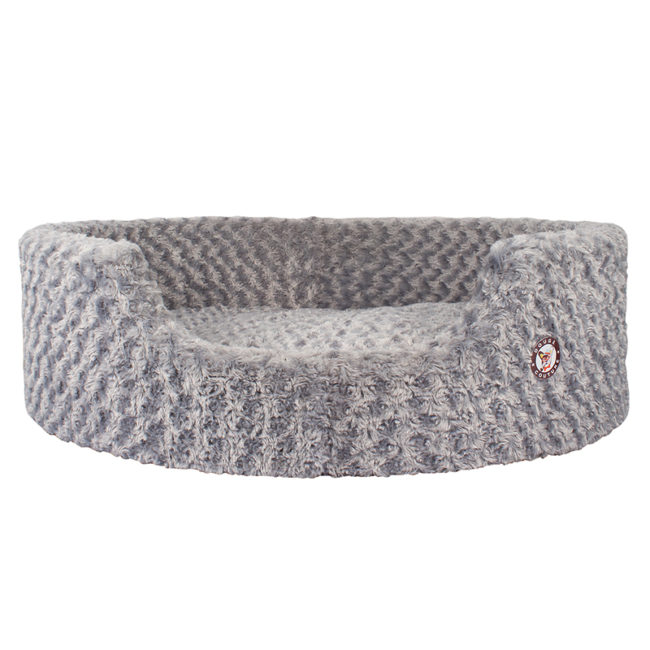 Douge Couture Grey Ultra Soft Dog Tub Bed