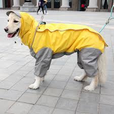 Raincoats For Dog (Waterproof ) jacket Safety - yellow