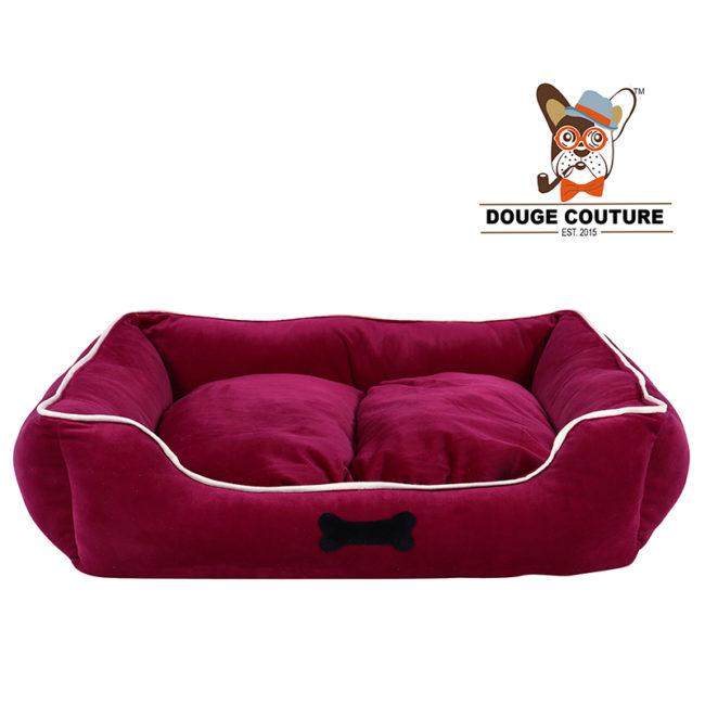 Mr Oreo Super velvet Soft Cozy Dog/cat Bed Mehroon