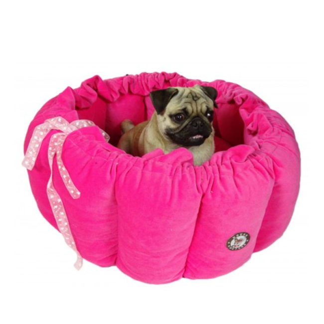 dog Bed Butter Cup Dark Pink