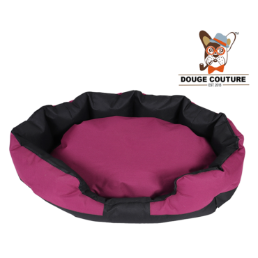 douge coutureAnchor Soft Dog Bed Purple and Black Waterproof Washable Hardwearing Pet Basket Mat Cushion 1