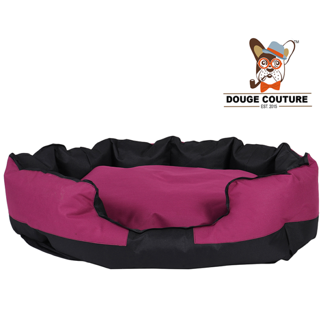 douge coutureAnchor Soft Dog Bed Purple and Black Waterproof Washable Hardwearing Pet Basket Mat Cushion