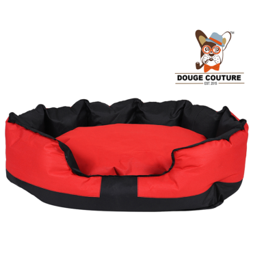 douge coutureAnchor Soft Dog Bed RED and Black Waterproof Washable Hardwearing Pet Basket Mat Cushion 1