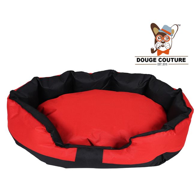 douge coutureAnchor Soft Dog Bed RED and Black Waterproof Washable Hardwearing Pet Basket Mat Cushion