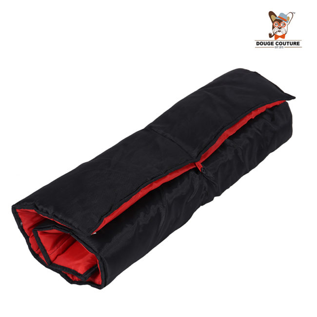 DOUGE COUTURE Portable Water Proof Mat Bed for Dogs and Cats |RED