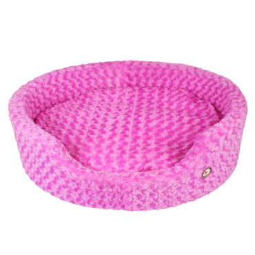 Douge Couture purple Ultra Soft Dog Tub Bed 1