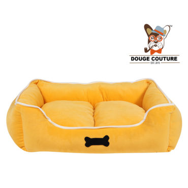 douge couture Super Soft Cozy Dog/cat Bed Yellow 1
